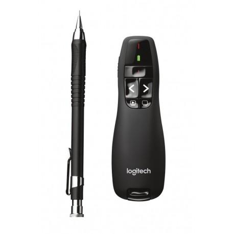 Logitech R400 RF Negro apuntador inalámbricos