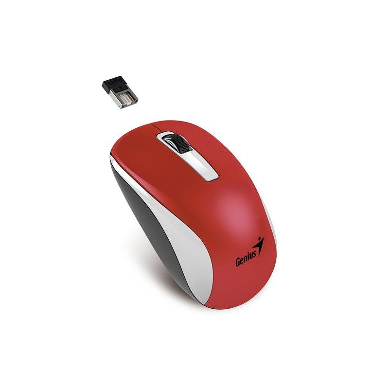 Genius NX-7010 RF inalámbrico BlueEye 1600DPI Ambidextro Negro, Rojo ratón