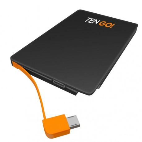 TenGO RT3101BT Polímero de litio 2600mAh Negro, Naranja batería externa