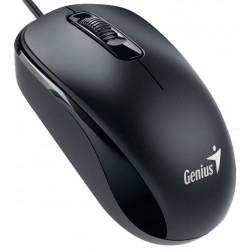 Genius DX-110 USB Óptico 1000DPI Ambidextro Negro ratón