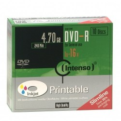 Intenso DVD-R 4.7GB, Printable, 16x 4.7GB DVD-R 10pieza(s)