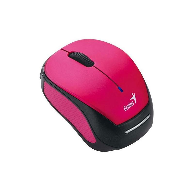 Genius Micro Traveler 9000R V2 RF inalámbrica + USB Óptico 1200DPI Ambidextro Negro, Rosa ratón