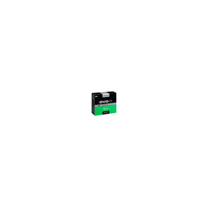 Intenso DVD+R 4.7GB, Printable, 16x 4.7GB DVD+R 10pieza(s)