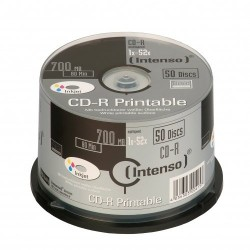 Intenso CD-R 700MB / 80min printable CD-R 700MB 50pieza(s)