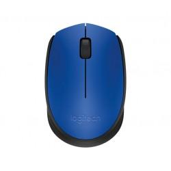 Logitech M171 RF inalámbrico Óptico 1000DPI Ambidextro Negro, Azul ratón
