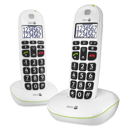 TELÉFONO FIJO DORO PHONE EASY 110 2 INALÁMBRICO BLANCO