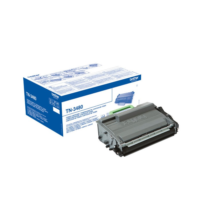 TONER BROTHER TN3480 NEGRO MFCL5750 6300DW MFCL6800DW MFCL6900DW 8000PAG