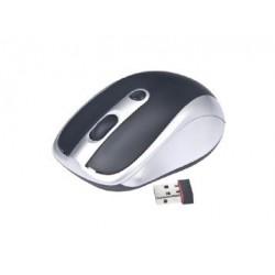 Gembird MUSW-002 RF inalámbrico Óptico 1600DPI Ambidextro Negro, Plata ratón