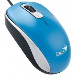 Genius DX-110 USB Óptico 1000DPI Ambidextro Azul ratón