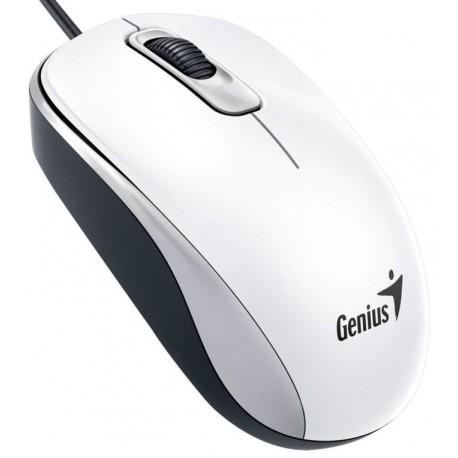 Genius DX-110 USB Óptico 1000DPI Ambidextro Blanco ratón
