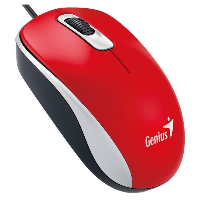 Genius DX-110 USB Óptico 1000DPI Ambidextro Rojo ratón