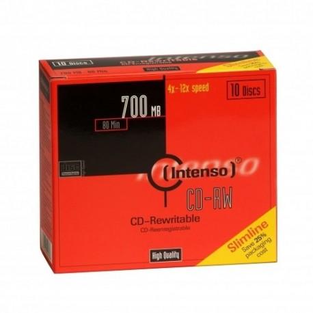 Intenso CD-RW 700MB / 80min, 12x CD-RW 700MB 10pieza(s)
