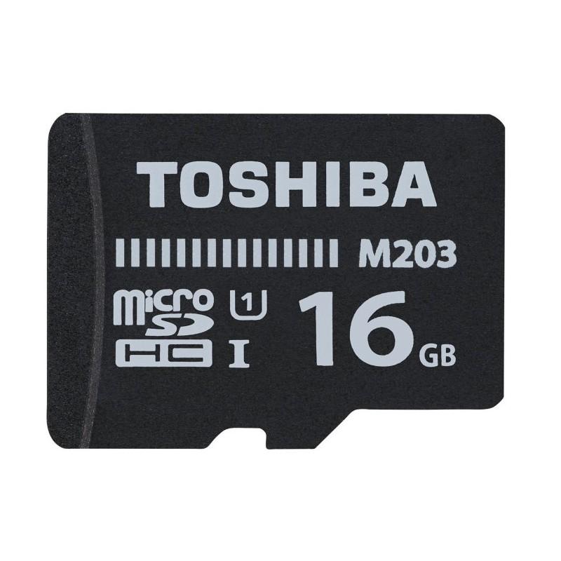 MICRO SD TOSHIBA 16GB M203 UHS-I C10 R100 CON ADAPTADOR