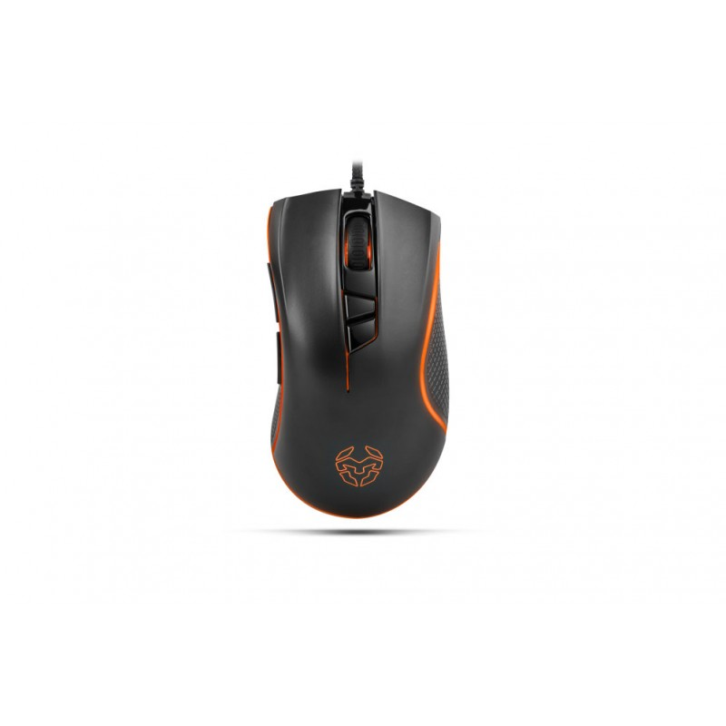 Krom Khuno USB Óptico 5000DPI mano derecha Negro ratón