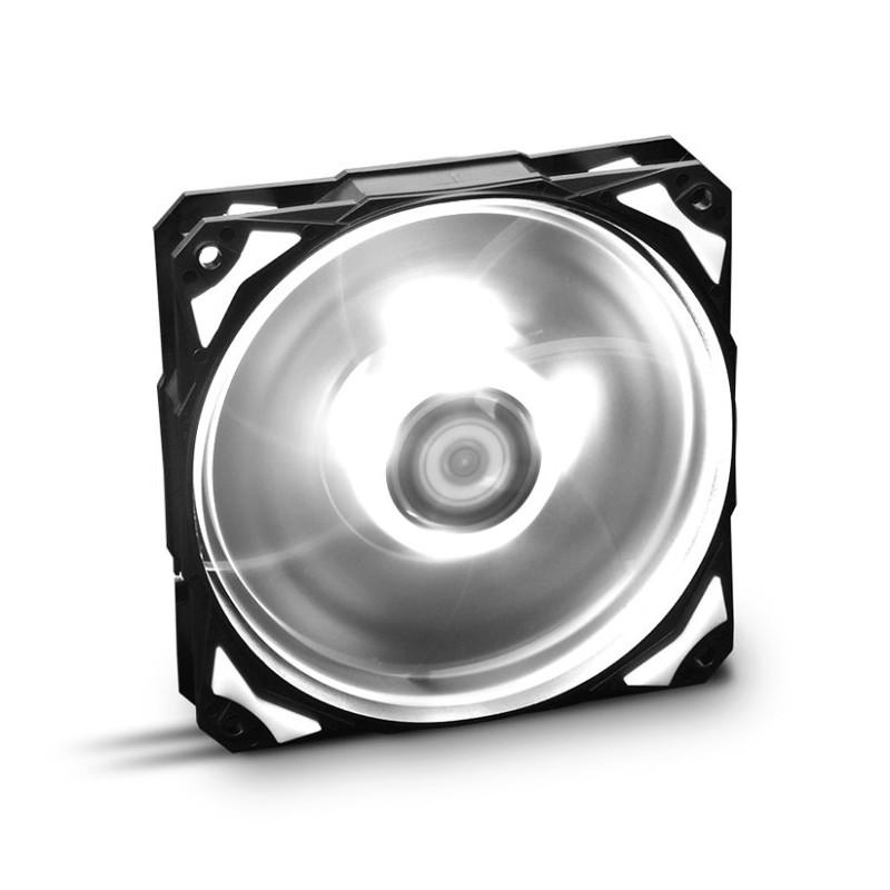VENTILADOR CAJA NOX H-FAN LED 120MM NEGRO LED BLANCO
