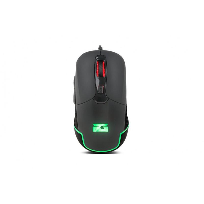 BG Hellcat USB Óptico 4800DPI mano derecha Negro ratón