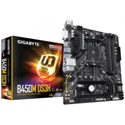 Gigabyte B450M DS3H (rev. 1.0) AMD B450 Zócalo AM4 Micro ATX