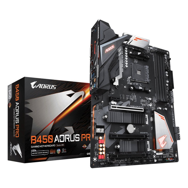 Gigabyte B450 AORUS PRO (rev. 1.0) AMD B450 Zócalo AM4 ATX