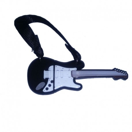Pendrive tech one tech guitarra black and white 16gb usb 2.0