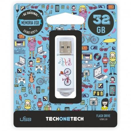 Pendrive tech one tech be bike 32gb usb 2.0