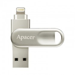 PENDRIVE APACER SWIVEL AH790 32GB - CONECTORES USB 3.0 Y LIGHTNING - APLICACIÓN IFILEBRIDGE PARA COPIAS DE SEGURIDAD IOS - COLOR