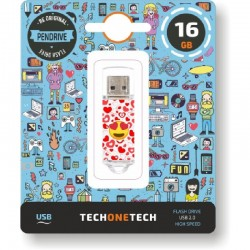 PENDRIVE TECH ONE TECH EMOJIS HEART EYES 16GB - USB 2.0