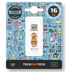 PENDRIVE TECH ONE TECH EMOJITECH NO-EVIL MONKEY 16GB USB 2.0