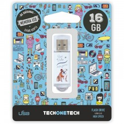 PENDRIVE TECH ONE TECH QUE VIDA MAS PERRA 16GB USB 2.0