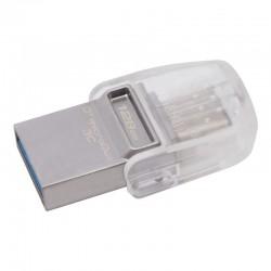 PENDRIVE KINGSTON DATATRAVELER MICRODUO 3C - 128GB - CONECTORES USB-A Y USB TIPO-C - 100MB/S LECTURA - 15MB/S ESCRITURA - USB 3.