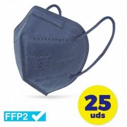 CAJA DE MASCARILLAS FFP2 CLUB NÁUTICO 25 UNIDADES - COLOR AZUL - ENVASADAS DE FORMA INDIVIDUAL - 5 CAPAS PROTECCIÓN