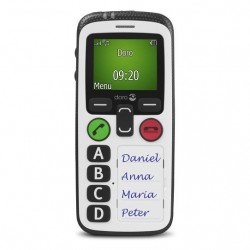 "TELEFONO MOVIL SENIOR DORO SECURE 580 1,8"" NEGRO BLANCO"