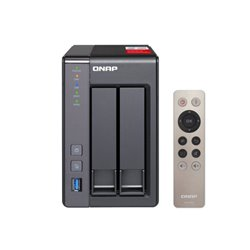 NAS QNAP TS-251/ 2 Bahías 3.5'- 2.5'/ 2GB DDR3L/ Formato Torre