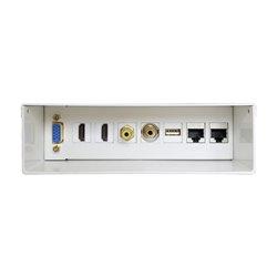 Caja De Conexiones Aisens A127-0340/ VGA - 2*HDMI - JACK3.5 - RCA - 1*USB - 2*RJ45