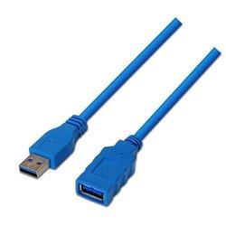 Cable Alargador USB 3.0 Aisens A105-0046/ USB Macho - USB Hembra/ 2m/ Azul