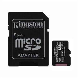 Tarjeta de Memoria Kingston CANVAS Select Plus 128GB microSD XC con Adaptador/ Clase 10/ 100MBs