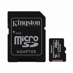 Tarjeta de Memoria Kingston CANVAS Select Plus 256GB microSD XC con Adaptador/ Clase 10/ 100MBs