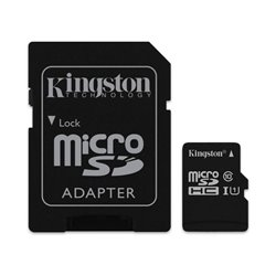 TARJETA MICROSD HC - 16GB + ADAPTADOR KINGSTON CANVAS SELECT - CLASE 10 - 80MB/S