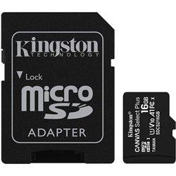 TARJETA MICROSD HC 16GB + ADAPTADOR KINGSTON CANVAS SELECT PLUS - CLASE 10 - 100MB/S