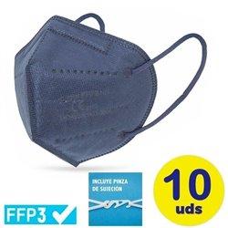Mascarillas FFP3 Ultra Plus Club Náutico / Pack 10 uds/ Azules