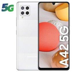 Smartphone Samsung Galaxy A42 4GB/ 128GB/ 6.6'/ 5G/ Blanco
