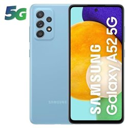 Smartphone Samsung Galaxy A52 6GB/ 128GB/ 6.5'/ 5G/ Azul