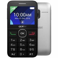 TELÉFONO MÓVIL ALCATEL ONE TOUCH 20.08G SILVER - 2.4'/6.09CM QVGA - 16MB ROM - 8MB RAM - MICROSD - BT3.0 - RADIO FM - CAM 2MP -