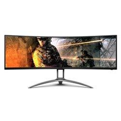 Monitor Gaming Curvo AOC AGON AG493UCX 49'/ Dual QHD/ Multimedia/ Negro