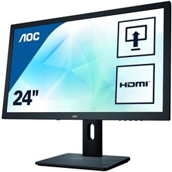 Monitor AOC E2475PWJ 23.6'/ Full HD/ Multimedia/ Negro