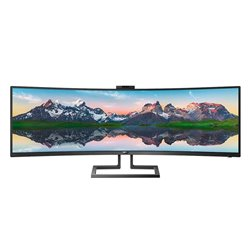 Monitor Ultrapanorámico Curvo Philips 499P9H 48.8'/ 5120 x 1440/ Multimedia/ Negro