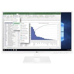 Monitor Profesional LG 24BK550Y-W 24'/ Full HD/ Multimedia/ Blanco