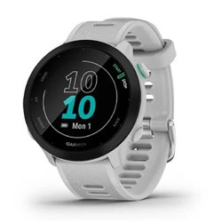 Smartwatch Garmin Forerunner 55/ Notificaciones/ Frecuencia Cardíaca/ GPS/ Blanco