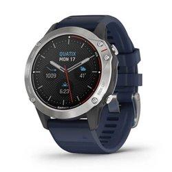 Smartwatch Garmin Quatix 6/ Notificaciones/ Frecuencia Cardíaca/ GPS/ Gris y Azul