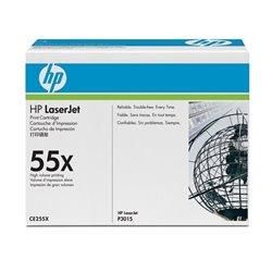 Tóner Original HP nº55X XL Alta Capacidad/ Negro