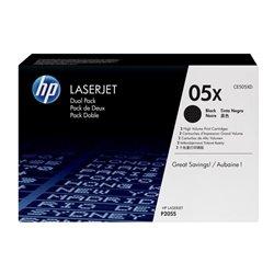Tóner Original HP nº05X XL Alta Capacidad Multipack/ 2x Negro